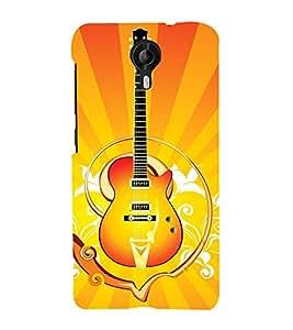 EPICCASE stylish guitar Mobile Back Case Cover For Micromax Canvas Nitro 4G E455 (Designer Case)