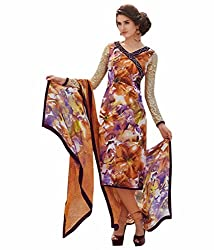 Sinina Women's Crepe Semi Stitched Dress Material (123Tangy6412A_Multi-Coloured_Free Size)