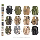 Tactical Pouch - Compact Water-resistant Molle EDC Utility Gadget Gear Tools Organizer - Free Keychain Flashlight (CP)