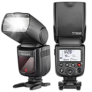 Neewer TT850 *LI-ION BATTERY* Flash Speedlite For Canon, Nikon, Pentax, Olympus and all other SLR DSLR CAMERAS Professional Photography, 650 Full Power POPS with single Li-ion battery! 1.5s Recycle time! (World's First Li-ion Battery Powered Speedlite Flash!)