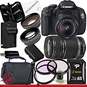 Canon EOS Rebel T3i 18 MP CMOS Digital SLR Camera w/ 18-55mm IS II & 55-250 IS II Lens Kit Package 3