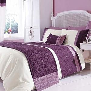catherine lansfield home parure housse de couette 1 personne imitation soie lois motif fleur. Black Bedroom Furniture Sets. Home Design Ideas