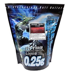 【クリックで詳細表示】Amazon.co.jp | バイオBB弾 ファイヤーボール 0.25g 4000発 酸化型生分解性プラスチック | ホビー 通販