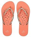 Showaflops Girls Antimicrobial Shower & Water Sandals - Elongated Heart