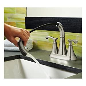 pfister ideal 2 handle 4 centerset bathroom faucet in brushed nickel