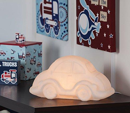 Clear White Resin Car Shelf Lamp