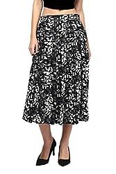 Monochromatic Flared Skirt