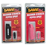 KJB Security P126 Sabre Red Pepper Spray - Pink