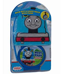 Thomas and friends bath mitt set with body wash pump for Thomas the train bathroom set