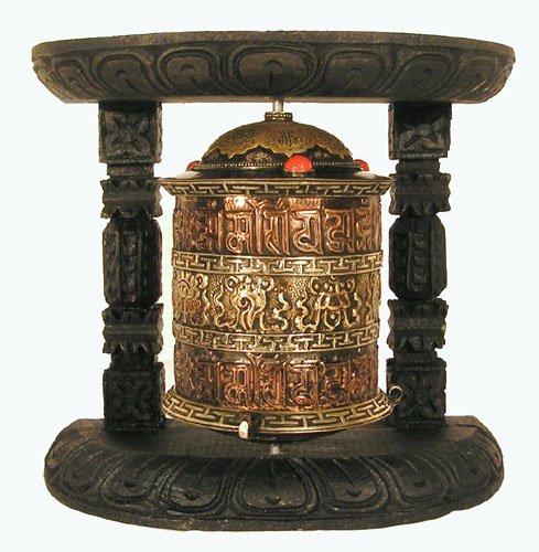 Mani Wheel Balanced Excellent Quality Craftsmenship Naga Land Tibet Sacred Stones Desk Prayer Wheel Create Merit During Conference Calls