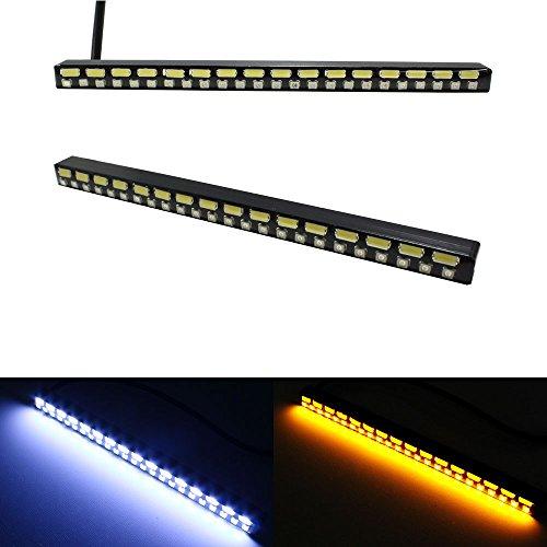 Ijdmtoy® Ultra Slim Switchback White/Amber 40-Smd Light Led Daytime Running Lamps Drl Kit