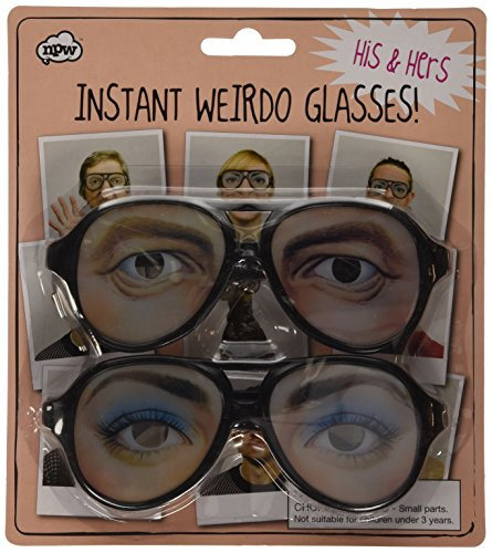 NPW Weirdo Glasses - His and Hers - Party Funny Eyes Fancy DRESS 70s Crazy Shades