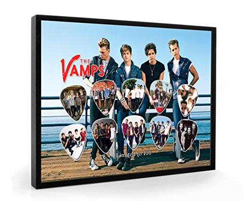 Vamps Framed Guitar Pick Display Limited To 100 Sets
