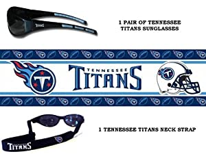 NFL Team Logo Wrap Sunglasses w Matching Neck Strap - PICK YOUR TEAM! by NFL