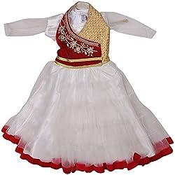 Be BeBo Girl's Cotton Dress (886_4, White, 4 Year )