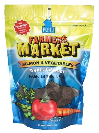 Plato Farmers Market Salmon and Vegetables Flavored Dog Treat Strips