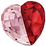 Swarovski Love Heart Medium Light Siam