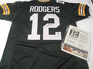 Aaron Rogers Signed Autographed Jersey Green Bay Packers Authentic Certified Coa