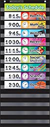 Pocket Chart Daily Sched Black