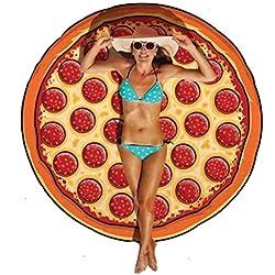 """Teli Mare , Ouneed® Turno Hippie Tapestry Beach Buttare Roundie Mandala asciugamani Yoga Mat Bohemian,150cm/59.0"""" (150cm*150cm/59.1""""*59.1"""", Rosso scuro)"""