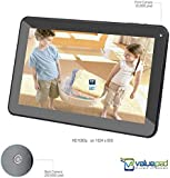 "Best Value Tablet with HDMI ValuePad® VP112-11 10.1"" Quad Core Android 4.4.2 KitKat Kids and Adult Hybrid Tablet, Bluetooth 4.0, 1080P via HDMI, Two Scr Prot, 16GB Storage (2GB for apps), 1GB RAM, Dual Camera, Google Play and Adobe Flash Pre-loaded, 10 Points MultiTouch 1024 x 600 HD Screen, Dual Speaker, 3D Game Supported, Full 1-Year Warranty Supported by [ValueChain]"