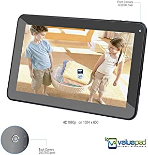 "Best Selling Tablet with HDMI ValuePad® VP112-10 10.1"" Quad Core Android 4.4.2 KitKat Kids and Adult Hybrid Tablet, Bluetooth 4.0, 1080P via HDMI, Two Scr Prot, 16GB Storage (2GB for apps), 1GB RAM, Dual Camera, Google Play and Adobe Flash Pre-loaded, 10 Points MultiTouch 1024 x 600 HD Screen, Dual Speaker, 3D Game Supported, Full 1-Year Warranty Supported by [ValueChain]"