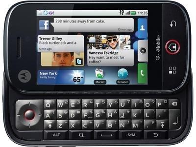 Motorola CLIQ DEXT MB220 Unlocked Phone with Android, 5MP Camera, 3G, Wifi and QWERTY Keyboard – Unlocked Phone – US Warranty – Black