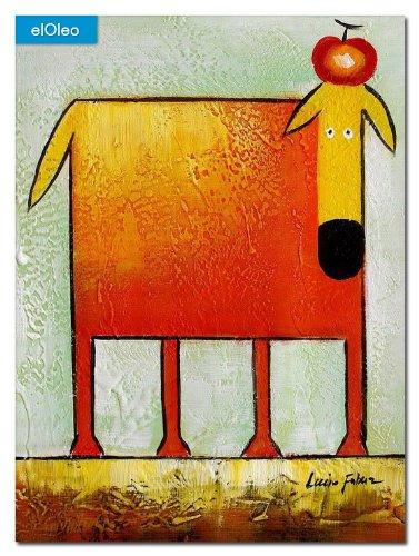 elOleo Pop Art – Der lustige gelbe Hund 40×30 Gemälde auf Leinwand handgemalt 83075A kaufen