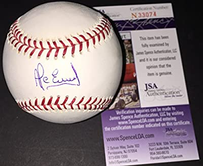 Alcides Escobar Kansas City Royals Autographed Signed Official Major League Baseball JSA COA