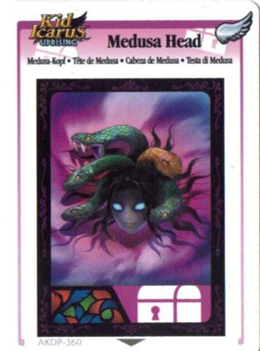 Kid Icarus Uprising AKDP 360 - Medusa Head Silver Wing Rare Card [Toy]