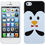 Asmyna IPHONE5CASKCAIM1065NP Slim and Durable Protective Cover for iPhone 5 - 1 Pack - Retail Packaging - Penguin