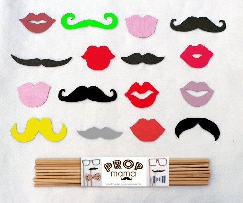 Mustache and Lips Party Props. 16 Photo Prop Varieties. DIY.