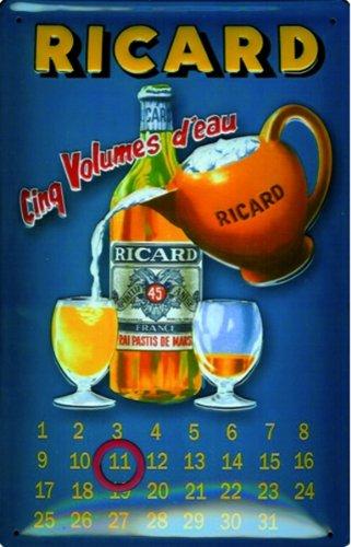 schild-alu-artdeco-ricard-kalender-hochformat-300x200mm