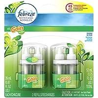 Febreze Noticeables Air Freshener with Gain Original Dual Refill (2 Count,1.75 Oz)