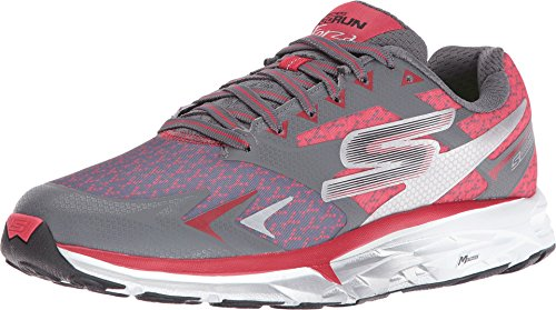Skechers Men's Go Run Forza Running Shoes Charcoal/Red 9.5 D(M) US
