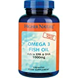 Higher Nature Fish Oil Omega 3 - 180 Capsulesby Higher Nature