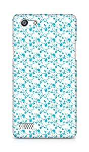 AMEZ designer printed 3d premium high quality back case cover for OPPO Neo 7 4G (blue floral roses)