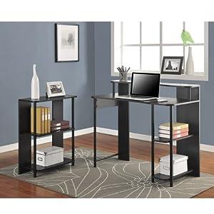 Altra Furniture Computer Desk and Bookcase Set, Black