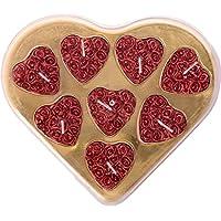 ShadowFax Heart Shape Rose Tealight Candle Set Of 8pc - B01J3VKJB6