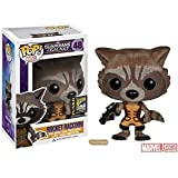 SDCC 2014 Funko Pop Guardians of The Galaxy #48 Rocket Raccoon (Flocked)