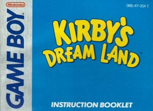 Kirby's Dream Land GB Instruction Booklet (Game Boy Manual Only - NO GAME) (Nintendo Game Boy Manual) (Kirby Dreamland Gameboy compare prices)
