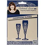 Create and Craft Champagne Glasses Tattered Lace Metal Die