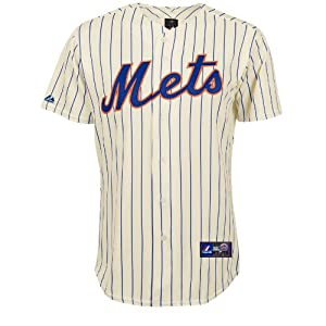 MLB New York Mets Home Replica Baseball Youth Jersey, Ivory Royal by Majestic