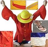 ワンピースルフィ2年後服麦わら帽子コスチュームLサイズ