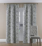 Floral Pencil Pleat Curtains