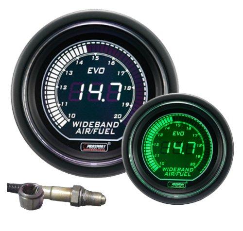 Wideband Digital Air Fuel Ratio Kit Green/white EVO Series (Prosport Air Fuel Ratio Gauge compare prices)