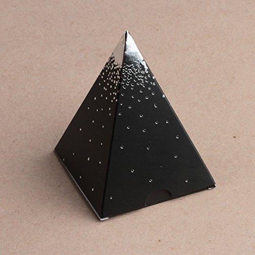 Ballotins--drages-boites--chocolat-Nol-ORIGINALE-CLASSE-ELEGANTE-Forme-mini-Pyramide-Noir-or-ou-argent-au-choix-x10-nol-mariage-baptme-communion-anniversaire-Les-Gourmandises-de-Heidi