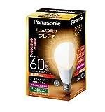 パナソニック LED電球 プレミア 電球60W形相当 密閉形器具対応 E26口金 電球色相当(7.8W) 一般電球・全方向タイプ LDA8LGZ60ESW