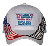 It's hard to be humble when you make your own Beer USA Flag / Checker Racing Hat / Baseball Cap