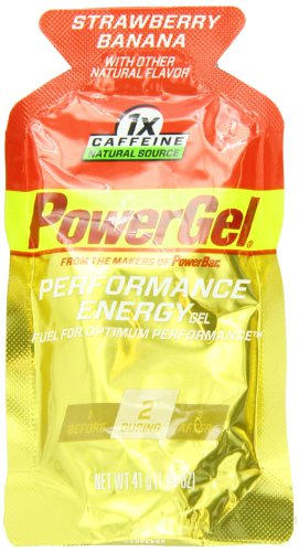 PowerBar PowerGel, fraise-banane, 1x caféine,